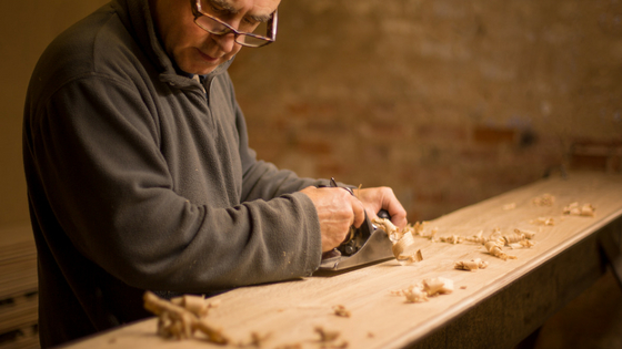 hand planing timber for traditional flooring