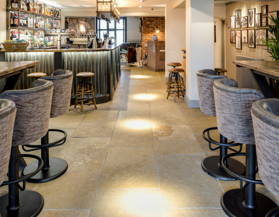 Bar and lounge area at the Boars Head